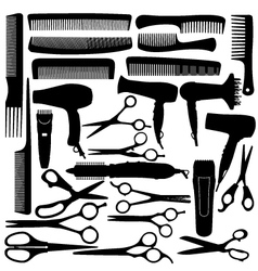 Barber hairdressing salon equipment vector image