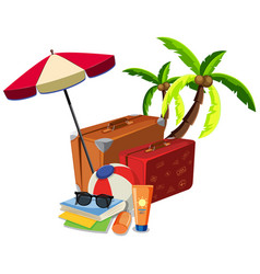 beach summer travel object vector image