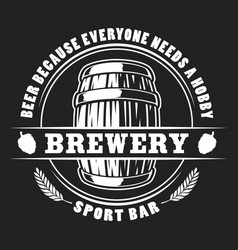 beer barrel badge vector image