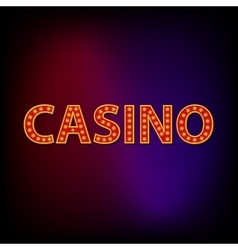 Casino word icon cartoon style vector