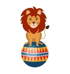 Circus lion animal cartoon design vector image