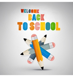 Colorful Back to school theme vector image