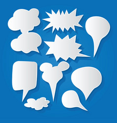 Comic bubble speech balloons speech cartoon 194 vector