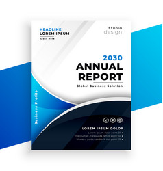 Company business annual report brochure template vector