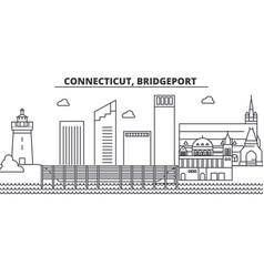 connecticut bridgeport architecture line skyline vector image