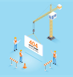 construction crane hanging 404 error page vector image