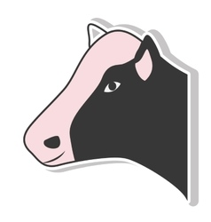 Cow animal icon vector
