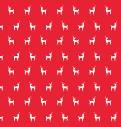 deer animal decoration backgropund pattern vector image