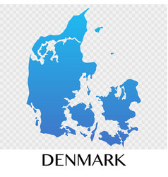 Denmark map in europe continent design vector