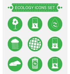 Ecology logo icon set vector image