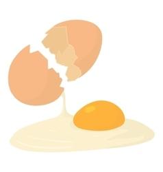 Egg icon cartoon style vector image
