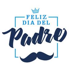 Feliz dia del padre spanish lettering vector