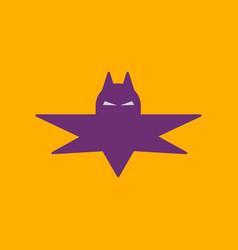 Flat icon on background halloween bat vector
