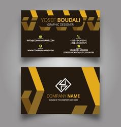 Geometric tiles business card vector