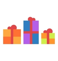 Gift box icon isolated vector