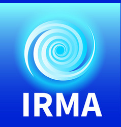 Graphic banner hurricane irma vector