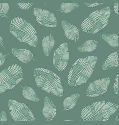 Green banana leaves seamless tropical vector