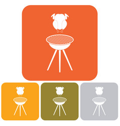 grilled chicken icon vector image