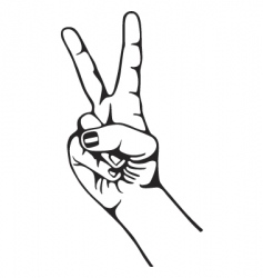 hand peace vector image
