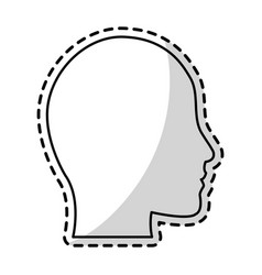 human head profile silhouette icon image vector image