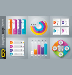 infographics design set with 3 and 4 options vector image