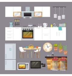 Kitchen Furniture Flat vector image