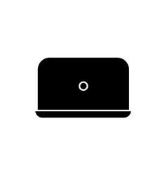 laptop black glyph icon vector image