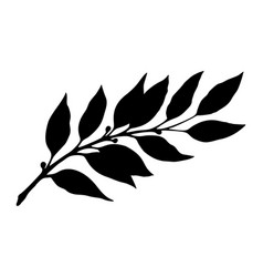 Laurel branch silhouette vector