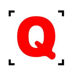 letter q sign design template element red vector image