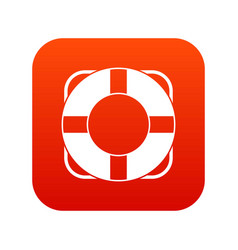 Lifeline icon digital red vector