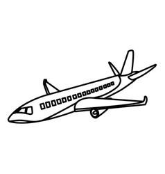 line travel airplane fight international transport vector image