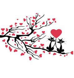love cats tree vector image