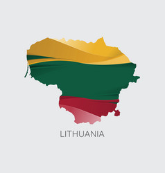 Map lithuania vector