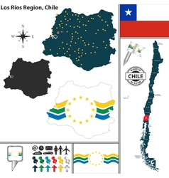 Map of Los Rios vector image