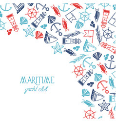 Maritime colorful yacht club poster vector