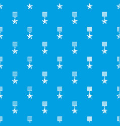 medal star pattern seamless blue vector image