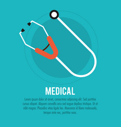 medical stethoscope health care vector image
