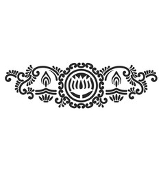 Mehndi template vector