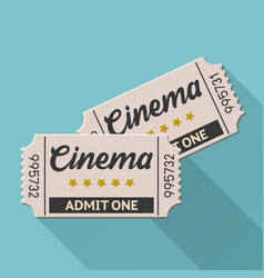 Movie ticket vintage retro style set 4 vector