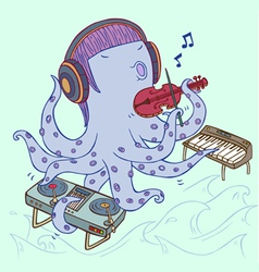 Musician octopus vector