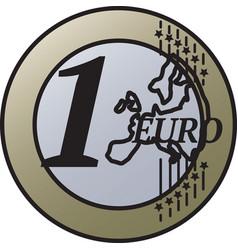 one european union euro coin vector image
