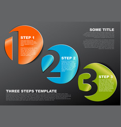 one two three - stickers with numbers vector image