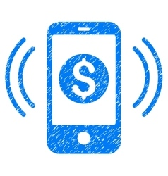 Payment Phone Ring Grainy Texture Icon vector