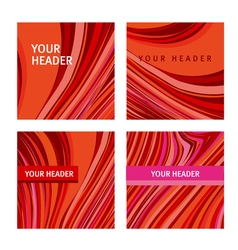 Red and pink wave concept line modern background vector