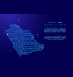 saudi arabia map country abstract silhouette from vector image
