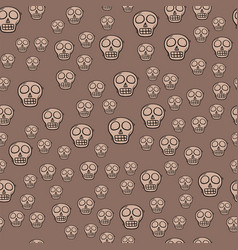 seamless pattern style skulls faces vector image