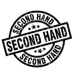 Second hand round grunge black stamp vector
