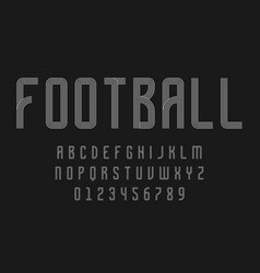 Set alphabets lines font modern abstract vector