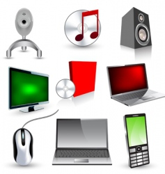 set of technology icons vector image