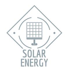 solar energy logo simple gray style vector image